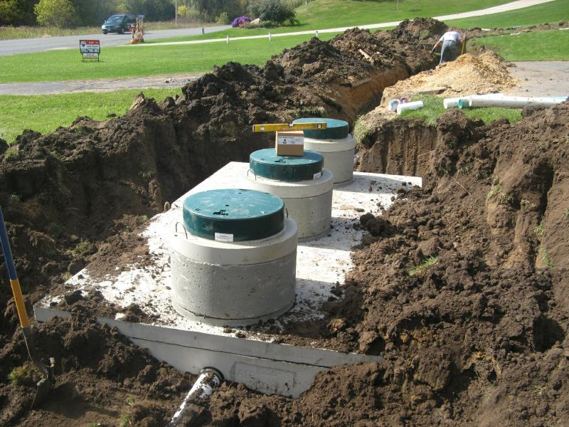Plant Precast Concrete Septic Tank Construction : Houston mn construction contractor septic excavation